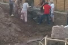 opvulzand (klei) in bouwput aanbrengen